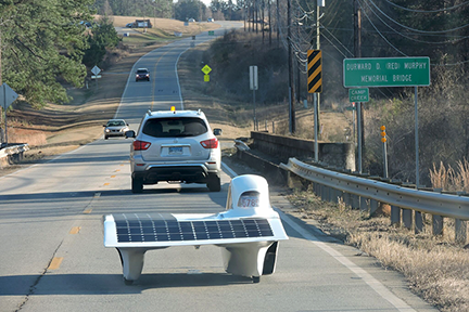 MIT Solar Flux on road in Georgia Web