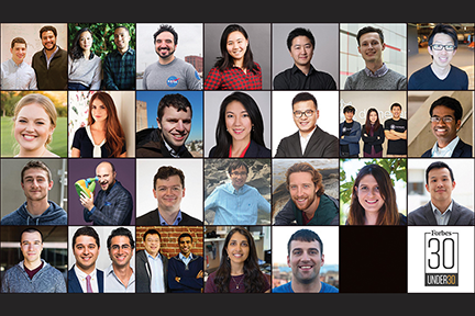 MIT brainpower highlighted in Forbes' 30 Under 30 lists for 2018
