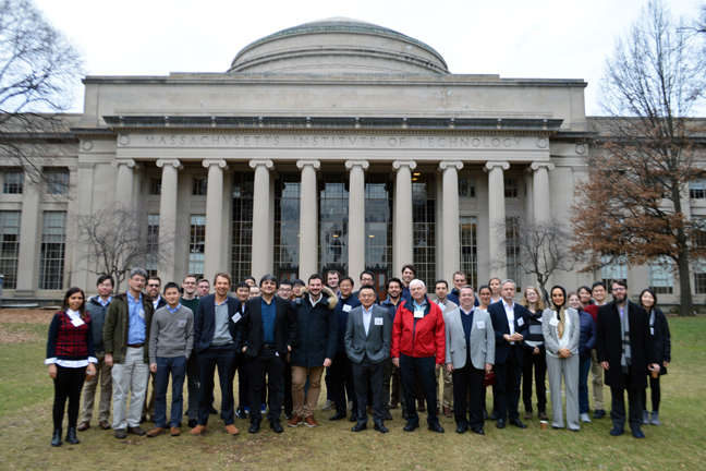 Alloy Design Workshop participants with the MIT dome in the background. Courtesy of C. Cem Tasan.