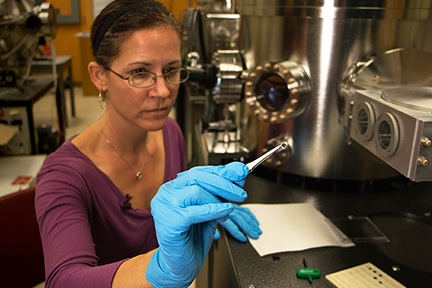 Stephanie Bauman is developing new magnetic device materials