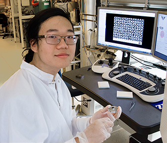 Justin Cheng explores process for making ordered metal nanostructures that display new properties
